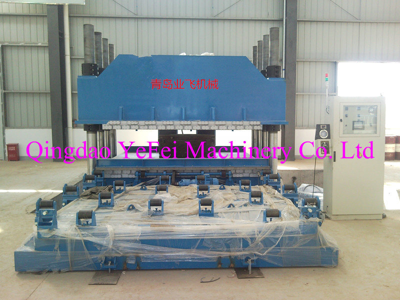 Pillar type bridge damping bearing vulcaning machine